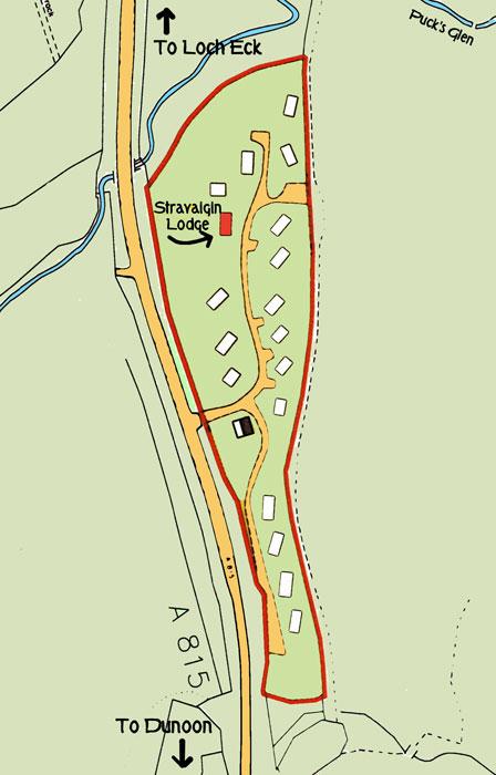 Site map for Stravaigin Lodge